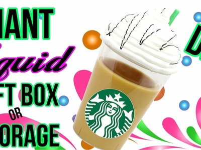 DIY Crafts: How To Make A Giant Liquid Starbucks - DIYs Storage Idea or Gift Box - Cool DIY Project