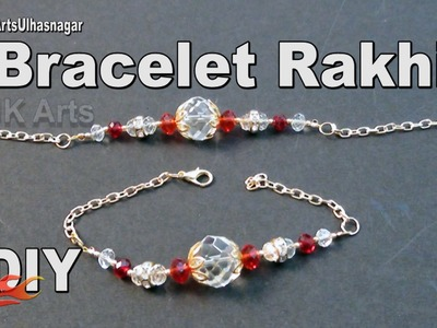 DIY Crystal bracelet Rakhi. Friendship Belt | How to make Wrist Belt | JK Arts 993