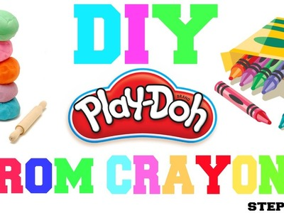 DIY EASY PLAY DOUGH (PLAY DOH)  OUT OF CRAYONS!