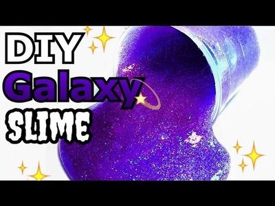 DIY Galaxy Slime! No Borax, No Clay, No Detergent Method!