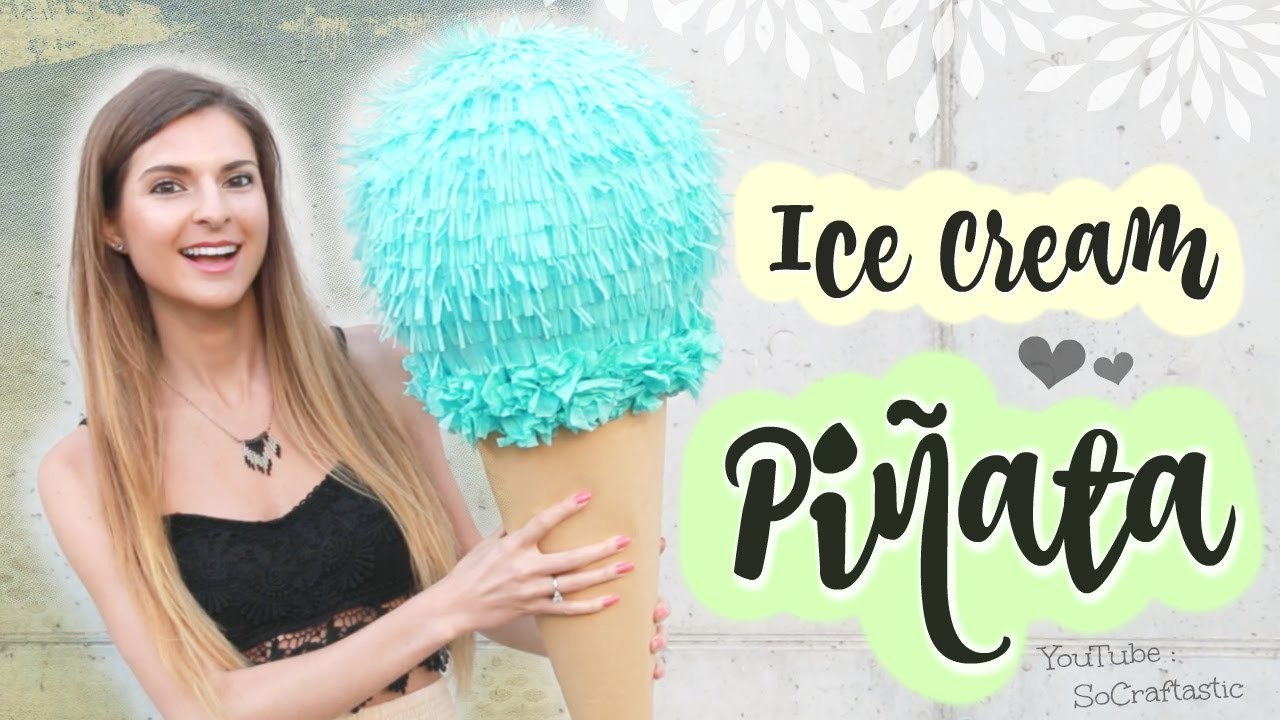 DIY Giant Ice Cream Piñata - How to Make a Pinata with Paper Mache