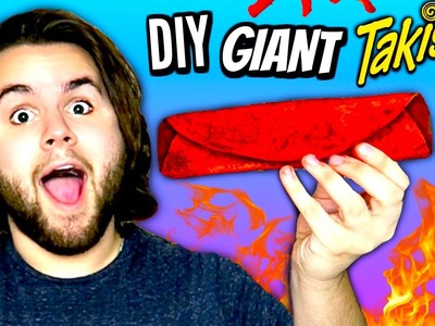 DIY GIANT TAKIS | How To Make HUGE Edible Hot Taki Chips Tutorial