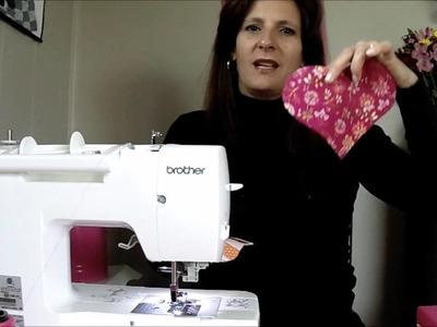 DIY  - Heart mug rug. tapete caneca de coração