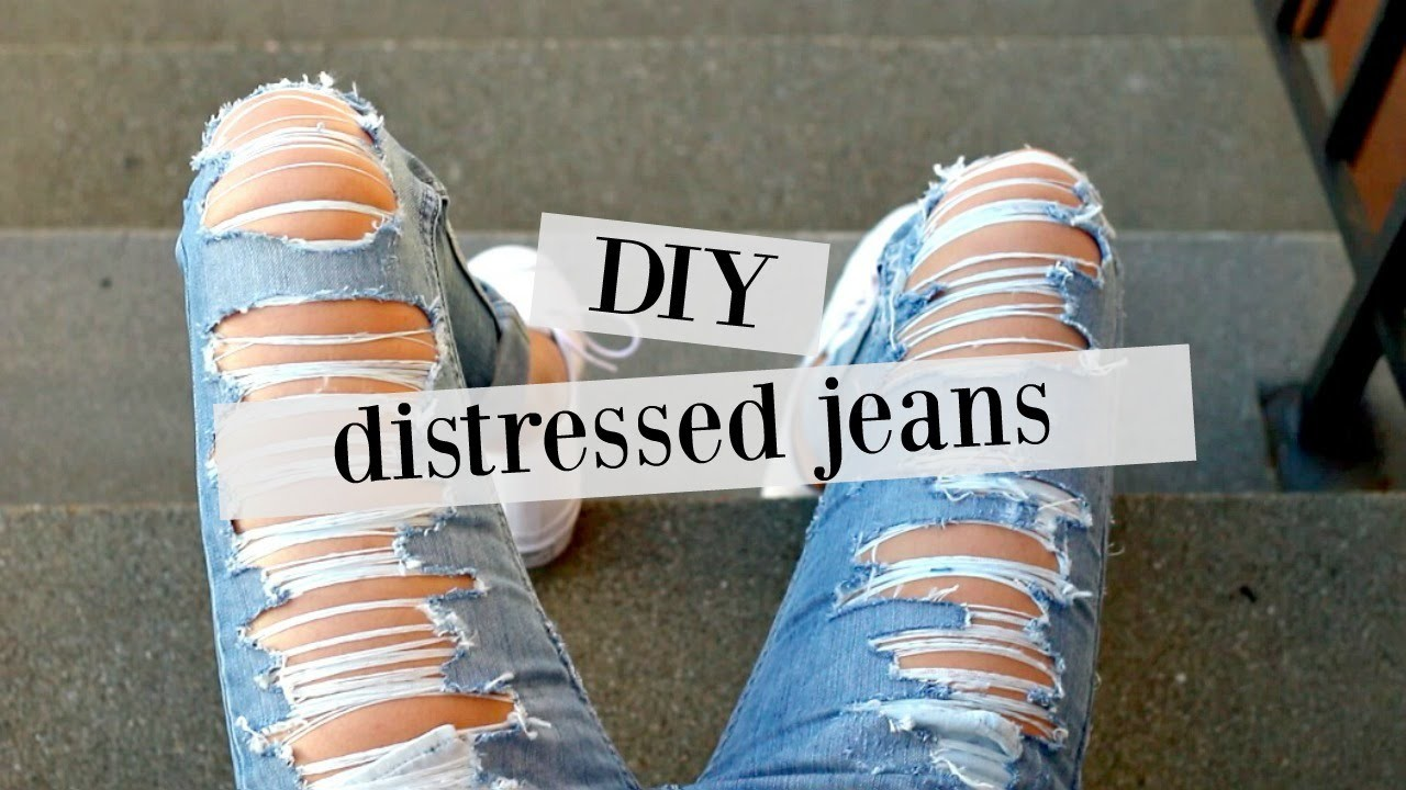 DIY: how to distress jeans   sew&tell
