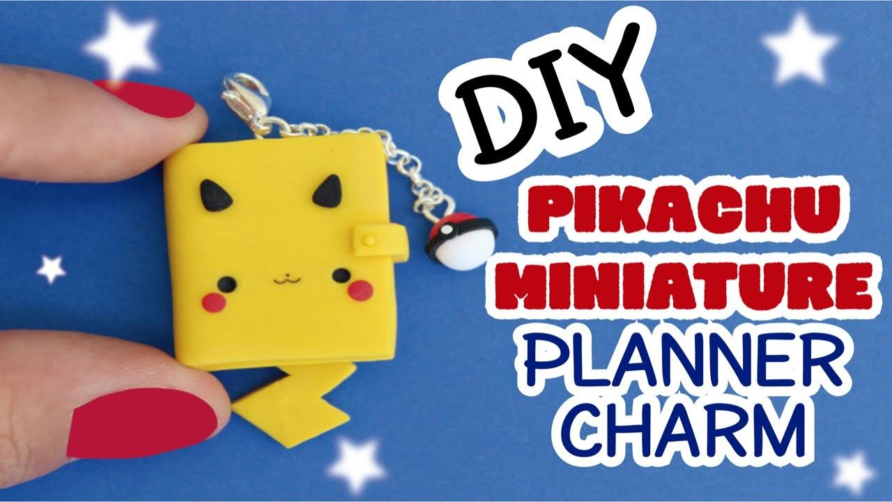 DIY: How to Make a Miniature Planner | Cute Pikachu Charm | Clay Tutorial
