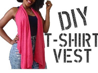 DIY How to make a Vest from a T Shirt