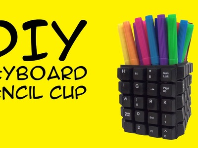 DIY Keyboard Craft: Pencil Cup: Crafty McFangirl Tutorial
