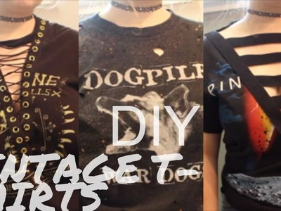 DIY Lace Up & Distressed T-Shirts ♡