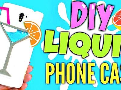 DIY LIQUID PHONE CASE   COCKTAIL GLASS