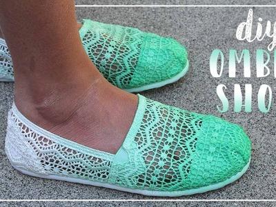 DIY Ombré Shoes - Easy Non Dip Dye Method