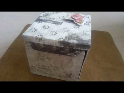 DIY Paper Craft - gift box,  magic box