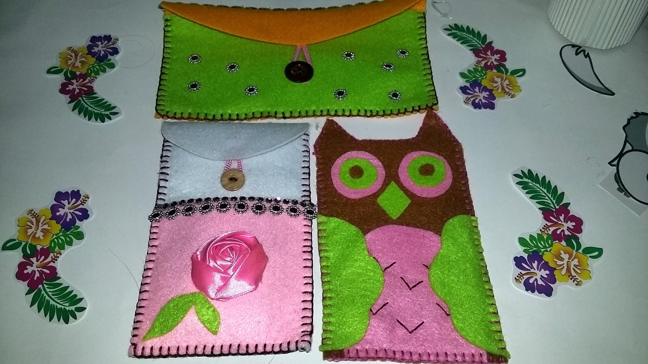 DIY phone bag from fabric - tutorial membuat kantong HP dari kain