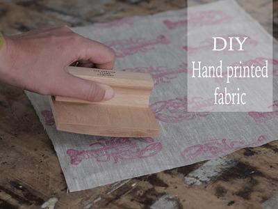 DIY printed fabric tutorial