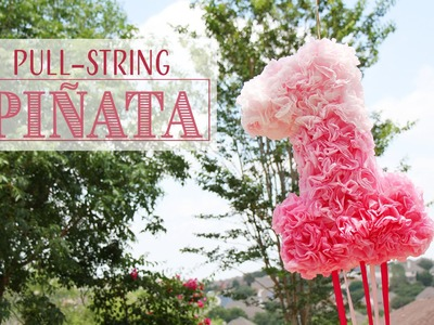 DIY Pull-String Piñata - Coffee Filters