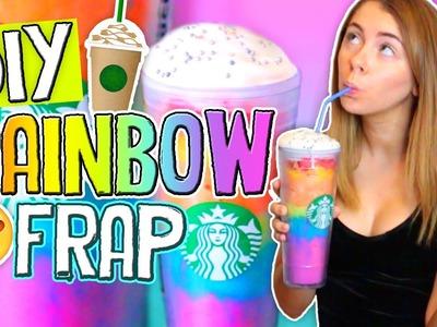 DIY Rainbow Starbucks Vanilla Bean Frappuccino!! Drinks for Summer 2016. Jill Cimorelli