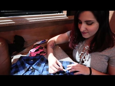 DIY Sleeveless 'Forever Warped' Flannel Tutorial