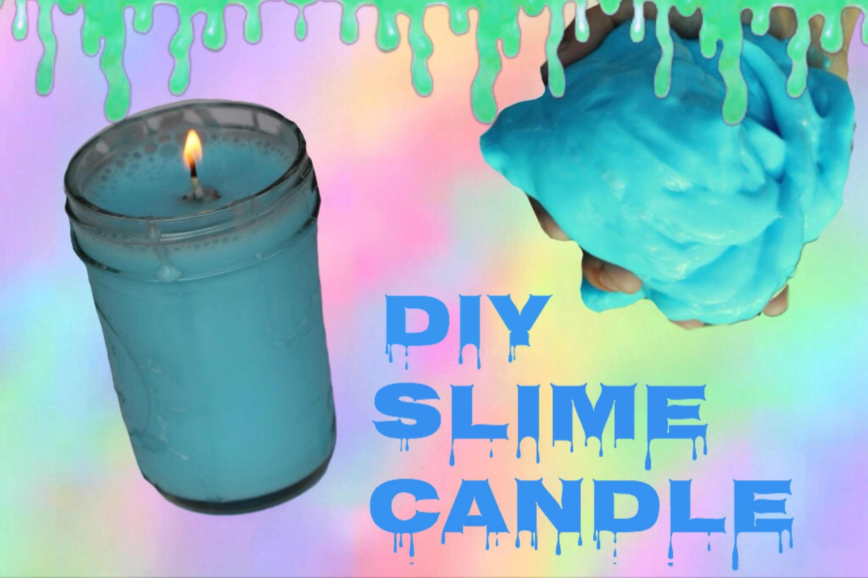 DIY SLIME CANDLE! How to make a slime candle that lights!