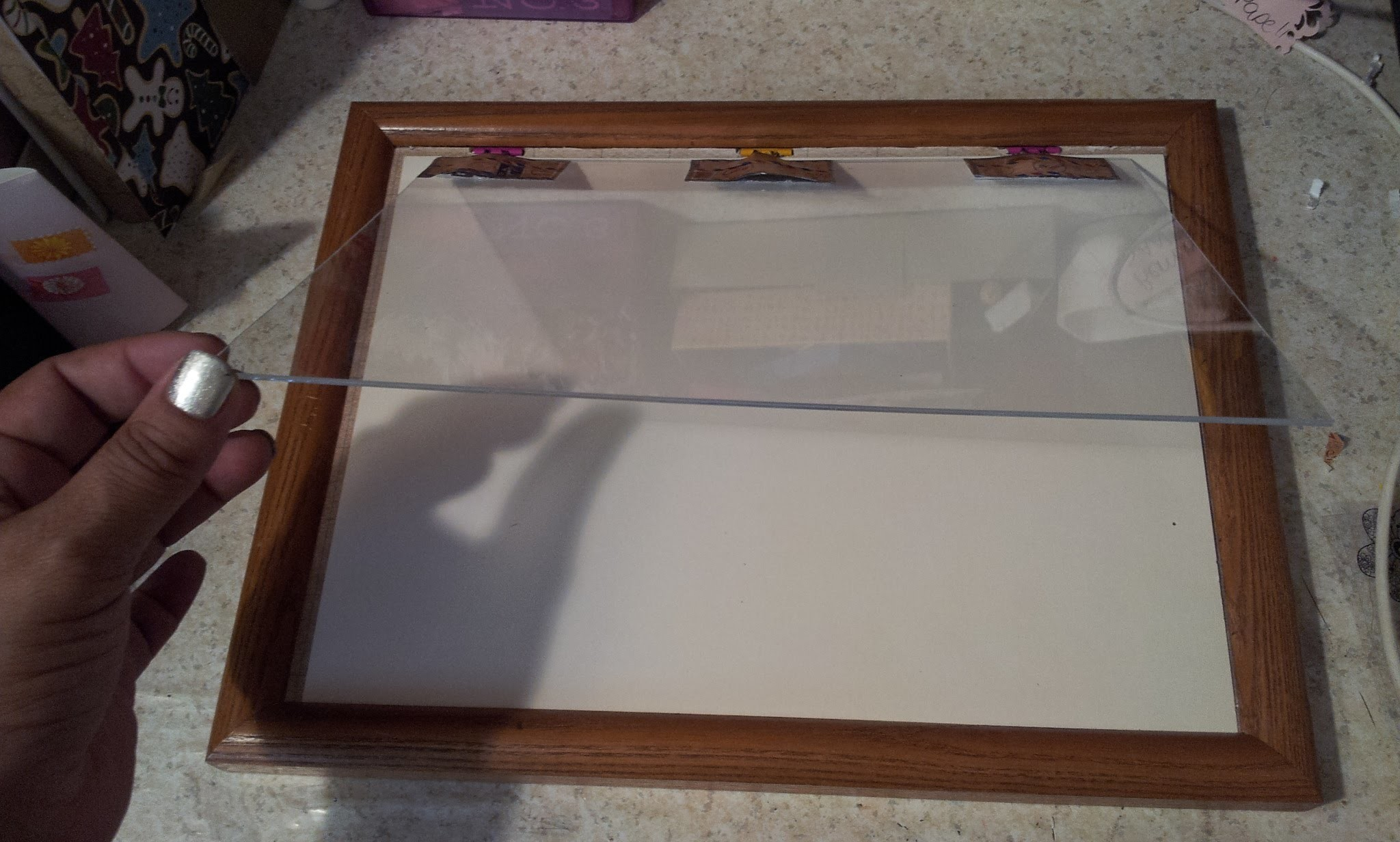 DIY Stamping Tool Using a picture frame ( Corky 2.0  DIY Stamp positioner for cheap