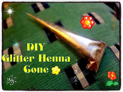 Easy DIY:How to make fancy glitter henna mehndi cone at home (eid special Tutorial)