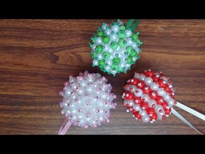 Hanging balls -  DIY disco ball, ribbon ball, push pin ball, bead ball