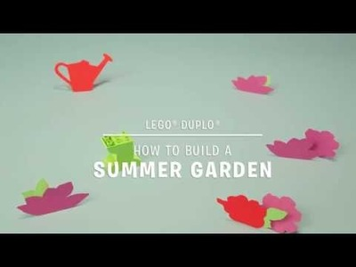 How to Build a Summer Garden - LEGO DUPLO - DIY Stop Motion