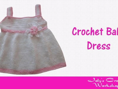 How to crochet baby dress with flower