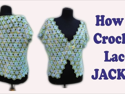 How to crochet blue jacket free tutorial pattern by wwwika crochet #crochet #jacket_crochet