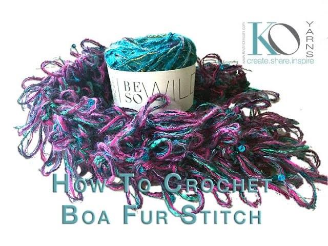 How to Crochet Boa Fur Stitch with Be So Wild Yarn