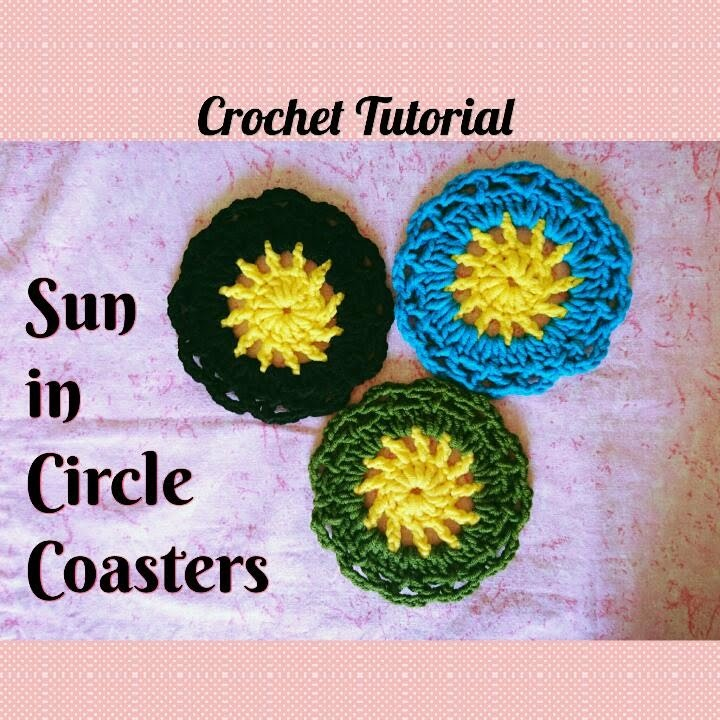 "How to Crochet Cute and Easy "" Sun in a Circle "" Coaster (Beginner Tutorial) ♥ Pearl Gomez ♥"