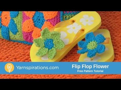 How To Crochet Flowers for Flip Flops