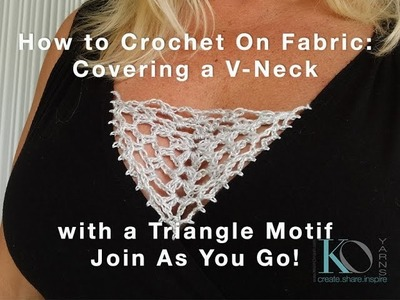 How to Crochet Motif V neck Coverage