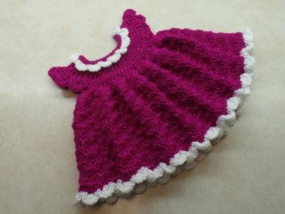 How To #Crochet Newborn Baby Shell Stitch Dress #TUTORIAL #319