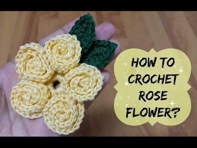 How to crochet rose stitch flower? | !Crochet!