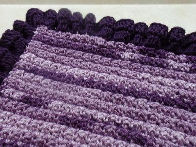 How to #Crochet Ruffle Edge Baby Blanket #TUTORIAL #318