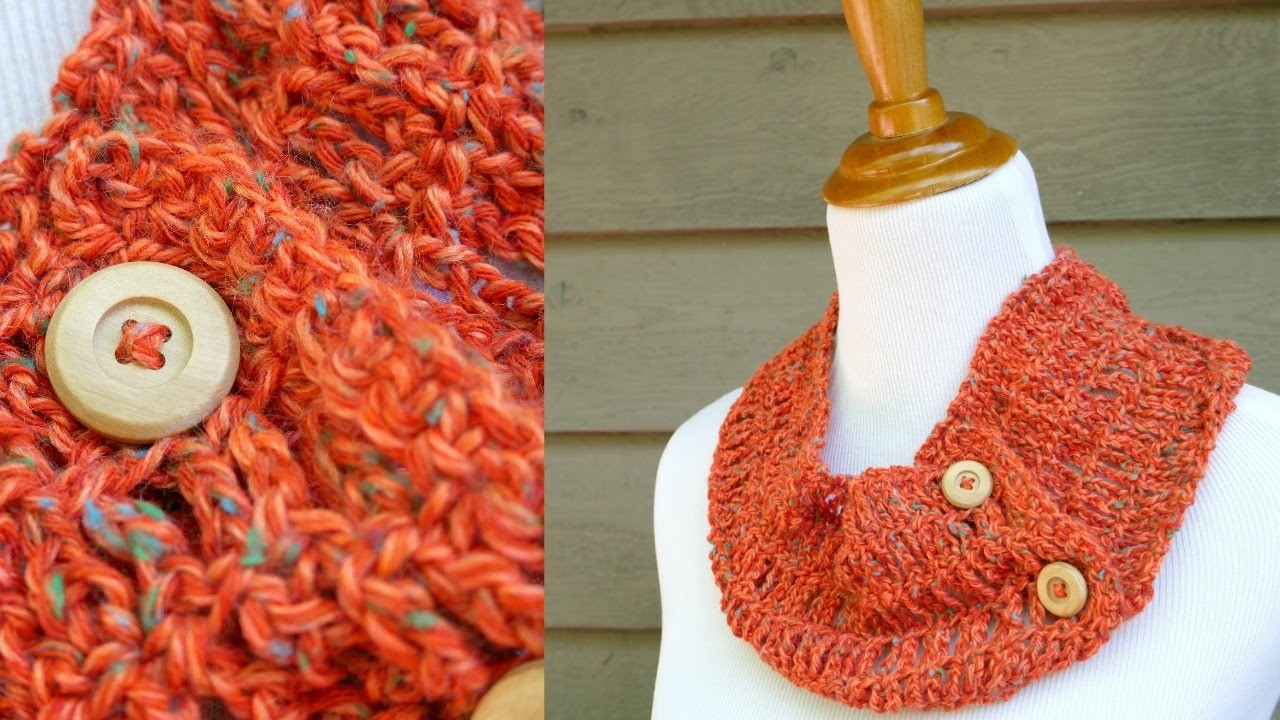 How To Crochet The Tiger Lily Summer Cowl, Episode 315
