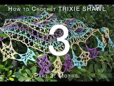 How to Crochet Trixie Shawl Part 3: Motifs