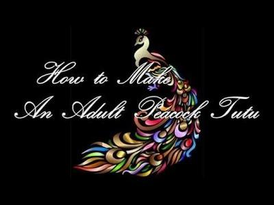 How To DIY An Adult Peacock Tutu Dress