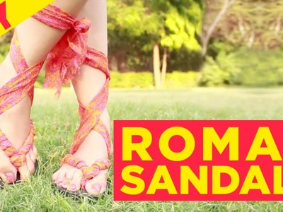 How to DIY Roman Sandals | How to make Gladiator sandals | DIY | Indi In The City | Style Indi