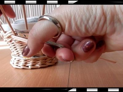 How to Make a Basket from  Newspaper   DIY Návod na pletené  z papíru Cestería con periódicos