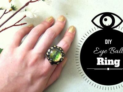 How to Make an Eyeball Ring from Scratch | DIY Dragon Eye Ring | by Fluffy Hedgehog