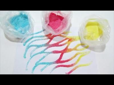 How to make Coloured Sand DIY Kids Creative Play Easy and Fun