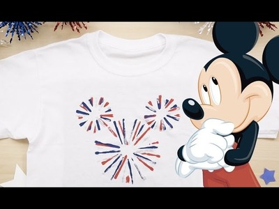 How To Make Mickey Mouse Fireworks Tee | Disney DIY