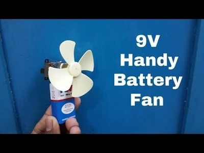 How To Make Mini Fan | DIY