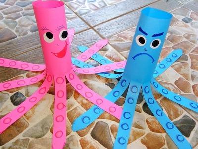 ❤ How to Make Paper Octopus ❤DIY Tutorial