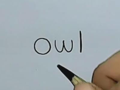How to turn Words Owl Into a Cartoon Owl. (Wordtoons)