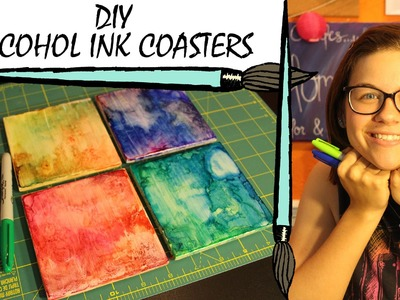 Kate Creates DIY Alcohol Ink Coasters with Sharpie Markers