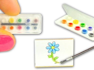 Miniature Watercolor Set DIY (actually works!) - Art Supplies - YolandaMeow♡