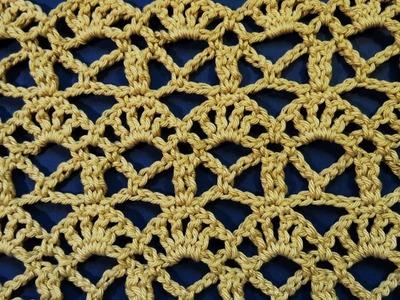 Mustra za heklanu bež bluzu (How to crochet blouse free pattern tutorial)