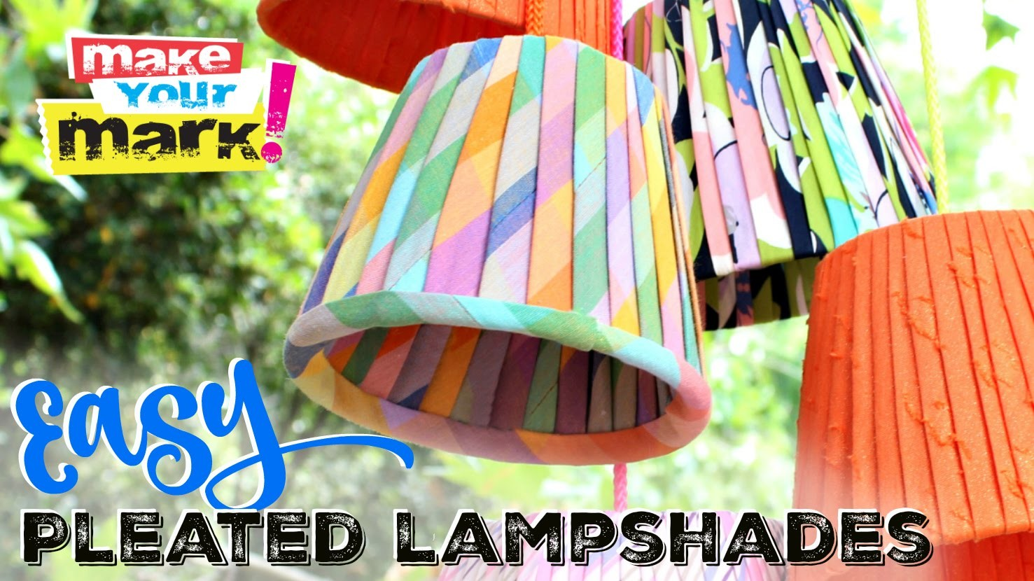 NO-SEW!  Pleated Lampshades DIY