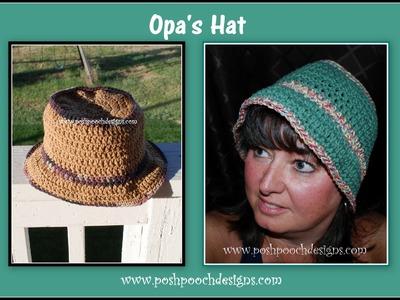 Opa's Hat  - Crochet Bucket Hat
